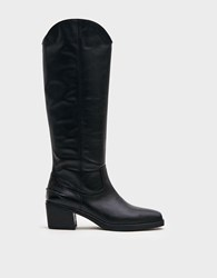 Vagabond Simone Tall Leather Boot In Black
