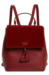 Kate Spade New York Hayes Street Teba Leather And Suede Backpack Red Sienna