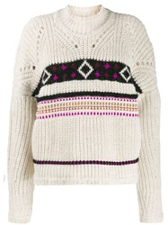 Isabel Marant Cable Knit Jumper Neutrals