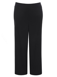 Evans Plus Size Black Crinkle Wide Leg Trouser