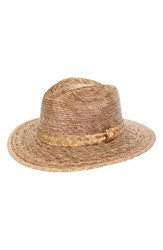 Peter Grimm Bitra Palm Straw Resort Hat Brown Natural
