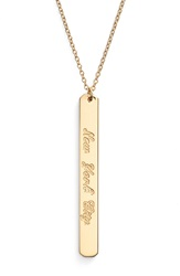 Coordinates Collection 'Compass' City Engraved Pendant Necklace Gold New York