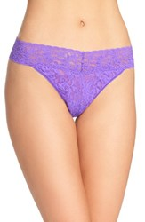 Hanky Panky Women's Original Rise Thong Royal Purple
