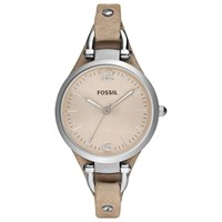 Fossil Women's Georgia Leather Strap Watch Sand