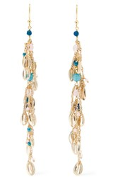 Rosantica Tortuga Gold Tone Quartz Earrings One Size