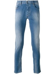 Diesel Faded Effect Jeans Blue
