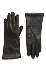 Nordstrom Cashmere Lined Leather Touchscreen Gloves Black