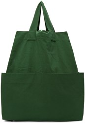 Phoebe English Green Giant Canvas Backpack