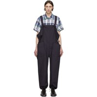 Engineered Garments Navy Cotton Overalls