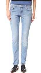 Derek Lam Mila Slim Boyfriend Cuffed Jeans Light Wash
