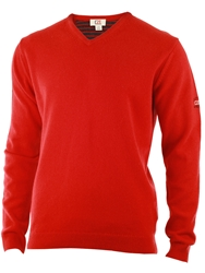 Cutter And Buck Lambswool V Neck Sweater Red
