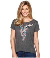 Roper 0891 Poly Cotton Heather Jersey Tee Grey Women's T Shirt Gray