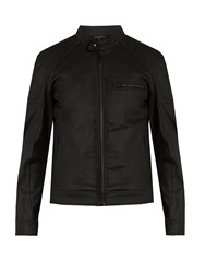 Belstaff Beckford Resin Coated Cotton Moto Jacket Black