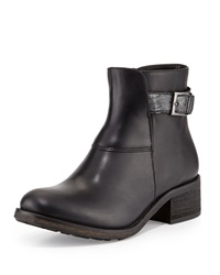 Modern Vintage Gia Short Leather Boot Black