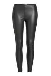Karl Lagerfeld Tuxedo Striped Leather Leggings