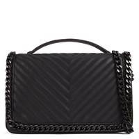 Aldo Greenwald Quilted Chain Handbag Black