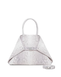 Akris Ai Python Small Messenger Bag Light Gray