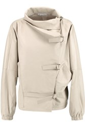 J.W.Anderson Oversized Leather Jacket Cream