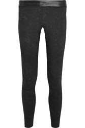 Monreal London Biker Stretch Jersey Leggings Black