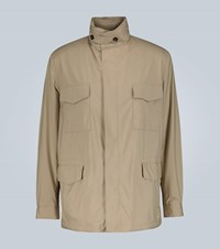 Loro Piana Cashmere Lined Traveller Windmate Jacket Brown