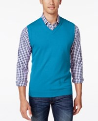 Club Room Men's Heartland V Neck Sweater Vest Only At Macy's Blue