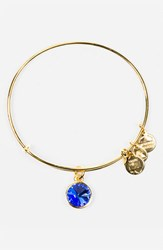 Women's Alex And Ani Birthstone Expandable Wire Bangle September Sapphire