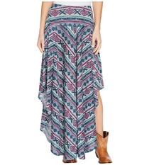 Double D Ranchwear Butterfly Bleu Long Skirt Multi Women's Skirt