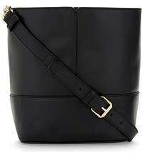 Sandro Lou Leather Bucket Bag Black