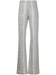 Acne Studios Jacquard Detail High Waisted Trousers 60