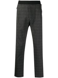 Low Brand Checked Track Pants Grey