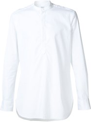 E. Tautz 'Core Grandad' Button Down Shirt White