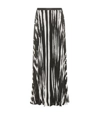 Tory Burch Lucea Printed Maxi Skirt Black