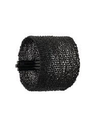 Christian Koban Woven Cuff Sterling Silver Black