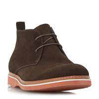 Dune Cisco Eva Wedge Sole Chukka Boots Brown