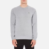 Lacoste Men's Crew Neck Jumper Silver Chine