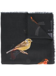 Stella Mccartney Birds Scarf Black