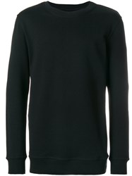 Damir Doma Round Neck Jumper Cotton Black
