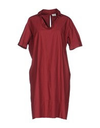 Caliban Short Dresses Maroon