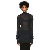 Ann Demeulemeester Black Ribbed Turtleneck