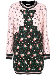 Vivetta Floral Faces Dress Cotton Polyester Black