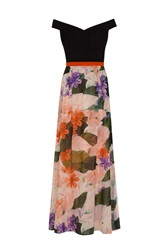 Almost Famous Painted Floral Maxi Dress Purple
