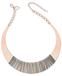 Thalia Sodi Two Tone Wire Wrapped Sculptured Collar Necklace Only At Macy's