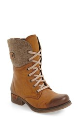 Rieker Antistress Women's 'Fee 04' Lace Up Boot Brown Faux Leather