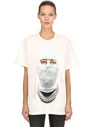 Ih Nom Uh Nit Printed Cotton Jersey T Shirt Off White