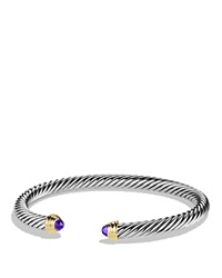 David Yurman Cable Classics Bracelet With Amethyst And Gold