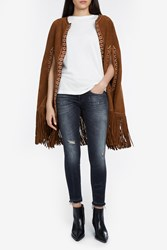 Talitha Women S Charu Suede Fringe Poncho Boutique1 Brown