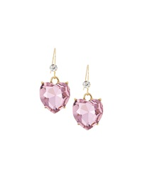 Greenbeads By Emily And Ashley Heart Drop Earrings Pink