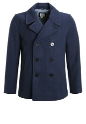 Gap Winter Coat Navy Heather Dark Grey
