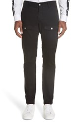 Versus By Versace Denim Cargo Pants B1008 Black