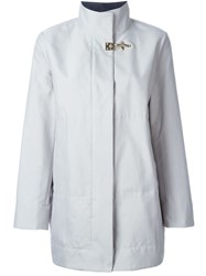 Fay Jacket With Front Buckle Grey